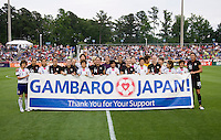 USWNT, Japan, Gambaro banner. The USWNT defeated Japan, 2-0,  at WakeMed Soccer Park in Cary, NC.