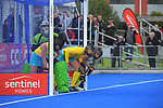 The Hockeyroos brace for a penalty corner during the Sentinel Homes Trans Tasman Series hockey match between the New Zealand Black Sticks Women and the Australian Hockeyroos at Massey University Hockey Turf in Palmerston North, New Zealand on Sunday, 30 May 2021. Photo: Dave Lintott / lintottphoto.co.nz