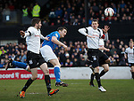 Jon Daly scores for Rangers with a header