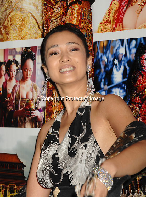 """Gong Li  arriving at the Premiere of """" Curse of The Golden Flower"""" on November 27, 2006 at Alice Tully Hall...Robin Platzer, Twin Images"""