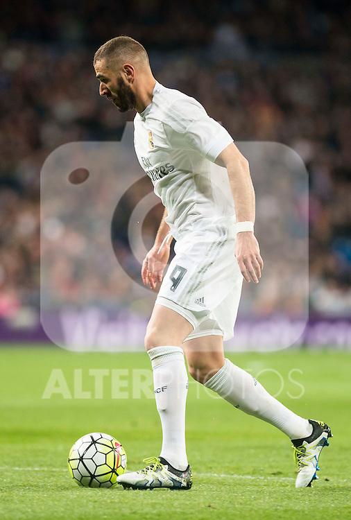 Real Madrid's Karim Benzema during La Liga match. March 20,2016. (ALTERPHOTOS/Borja B.Hojas)