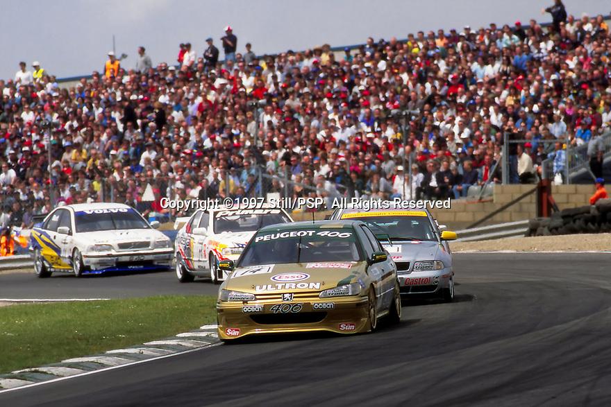 1997 British Touring Car Championship. #14 Patrick Watts (GBR). Esso Unitron Team Peugeot. Peugeot 406.