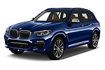 2018 BMW X3 base 5 Door SUV angular front stock photos of front three quarter view