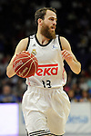 Real Madrid´s -Sergio Rodriguez during 2014-15 Liga Endesa match between Real Madrid and Unicaja at Palacio de los Deportes stadium in Madrid, Spain. April 30, 2015. (ALTERPHOTOS/Luis Fernandez)