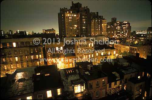 Manhattan (West Village) buildings from rooftop<br />