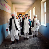 A group of Afghan tribal leaders after a council meeting (shura) in Herat. They often come to discuss issues with the mayor of Herat.