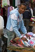 Tripoli, Libya - Fabric Vendor in Medina (Old City)
