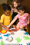 Day Care Center pretend play group of girls playing vertical