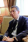 Der lettische Außenminister Edgars Rinkevics