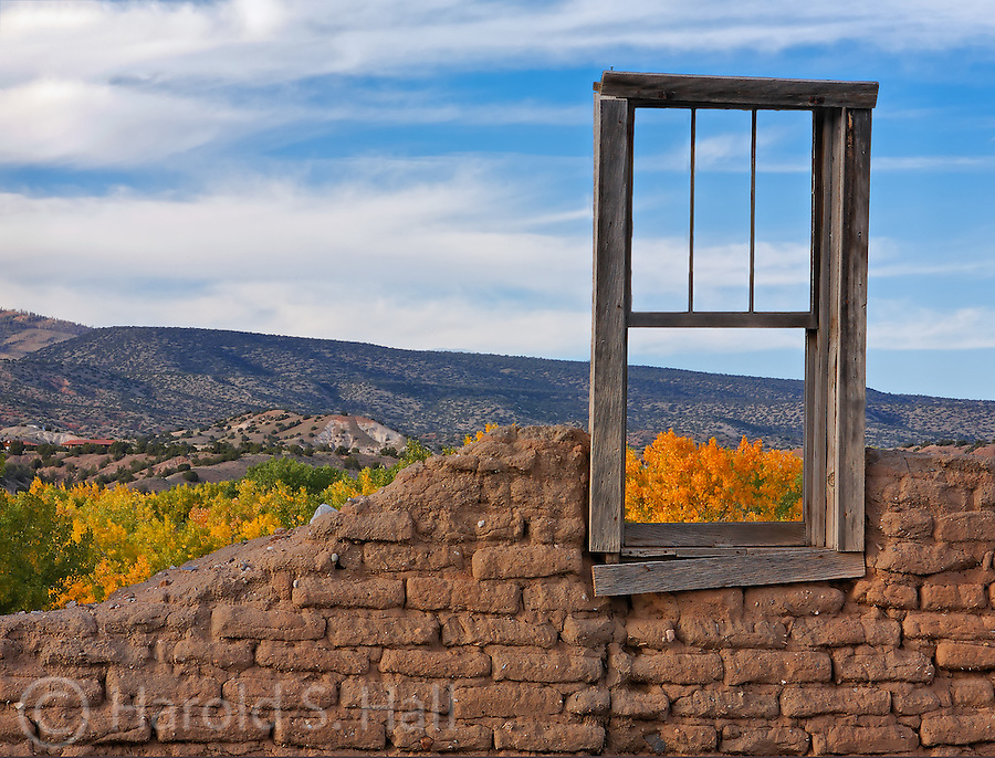 The fragile remains of the Santa Rosa Lima Church in Abiquiu, New Mexico