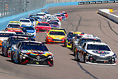 Monster Energy NASCAR Cup Series<br /> TicketGuardian 500<br /> ISM Raceway, Phoenix, AZ USA<br /> Sunday 11 March 2018<br /> Kyle Busch, Joe Gibbs Racing, Toyota Camry Skittles Sweet Heat ad Kevin Harvick, Stewart-Haas Racing, Ford Fusion Jimmy John's<br /> World Copyright: Russell LaBounty<br /> NKP / LAT Images