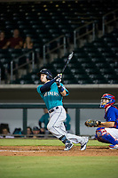 AZL Mariners designated hitter Geoandry Montilla (22) follows through on his swing against the AZL Cubs on August 4, 2017 at Sloan Park in Mesa, Arizona. AZL Cubs defeated the AZL Mariners 5-3. (Zachary Lucy/Four Seam Images)
