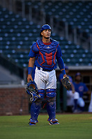 AZL Cubs 1 catcher Henderson Perez (8) during an Arizona League game against the AZL Royals on June 30, 2019 at Sloan Park in Mesa, Arizona. AZL Royals defeated the AZL Cubs 1 9-5. (Zachary Lucy/Four Seam Images)