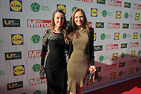 19/05/2015 <br /> Sarah o Flynn & Leigh Anne Vaughan <br /> during the Irish mirror pride of Ireland awards at the mansion house, Dublin.<br /> Photo: gareth chaney Collins