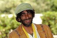 "GIOVANNI MARTORANA.Photcall for the film ""Io, l'altro"", Campidoglio, Rome, Italy..May 10th, 2007.headshot portrait green hat beard facial hair .CAP/CAV.©Luca Cavallari/Capital Pictures"