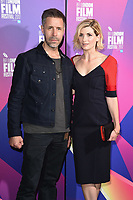 """Paddy Considine and Jodie Whittaker<br /> arriving for the London Film Festival 2017 screening of """"Journeyman"""" at Picturehouse Central, London<br /> <br /> <br /> ©Ash Knotek  D3333  12/10/2017"""