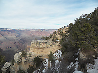 The spectacular Grand Canyon on an unusually warm February day.