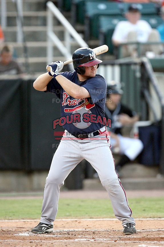 July 2, 2009: Mississippi Braves infielder Eric Campbell at Pringles Park in Jackson, TN. The Braves are the Southern League AA affiliate of the Atlanta Braves. Photo by: Chris Proctor/Four Seam Images