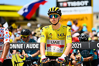 10th July 2021; Carcassonne, France;  POGACAR Tadej (SLO) of UAE TEAM EMIRATES during stage 14 of the 108th edition of the 2021 Tour de France cycling race, a stage of 183,7 kms between Carcassonne and Quillan.
