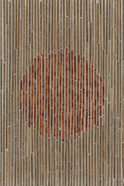 Name: Ikat<br /> Style: Contemporary<br /> Product Number: CB0728<br /> Description: Ikat in Rosa Verona, Travertine Noce (p)