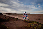 Bike rider Matthias Walkner from Austria riding his KTM motorcycle during the 6th stage of the Dakar Rally 2016 in the Bolivian Altiplano.