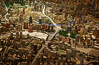 CHINA. Shanghai. A model of Shanghai in the Shanghai Urban Planning Hall. Shanghai is a sprawling metropolis or 15 million people situated in south-east China. It is regarded as the country's showcase in development and modernity in modern China. This rapid development and modernization, never seen before on such a scale has however spawned countless environmental and social problems. 2008