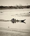 Boat on Saigon River, Ho Chi Minh City, Vietnam