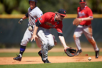 Illinois State Redbirds third baseman Ryan Hutchinson (38) during a game against the Northwestern Wildcats on March 6, 2016 at North Charlotte Regional Park in Port Charlotte, Florida.  Illinois State defeated Northwestern 10-4.  (Mike Janes/Four Seam Images)