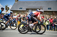 Nairo Quintana (COL/Arkéa Samsic) chatting along with Chris Froome (GBR/Israel Start-Up Nation) while cornering<br /> <br /> Stage 4 from Redon to Fougères (150km)<br /> 108th Tour de France 2021 (2.UWT)<br /> <br /> ©kramon