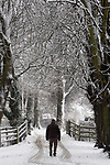 A lone walker makes his way through the snow in Caldicot.<br /> 13.01.10<br /> ©Steve Pope<br /> Sportingwales<br /> The Manor <br /> Coldra Woods<br /> Newport<br /> South Wales<br /> NP18 1HQ<br /> 07798 830089<br /> 01633 410450<br /> steve@sportingwales.com<br /> www.fotowales.com<br /> www.sportingwales.com<br /> ©Steve Pope<br /> Sportingwales<br /> The Manor <br /> Coldra Woods<br /> Newport<br /> South Wales<br /> NP18 1HQ<br /> 07798 830089<br /> 01633 410450<br /> steve@sportingwales.com<br /> www.fotowales.com<br /> www.sportingwales.com