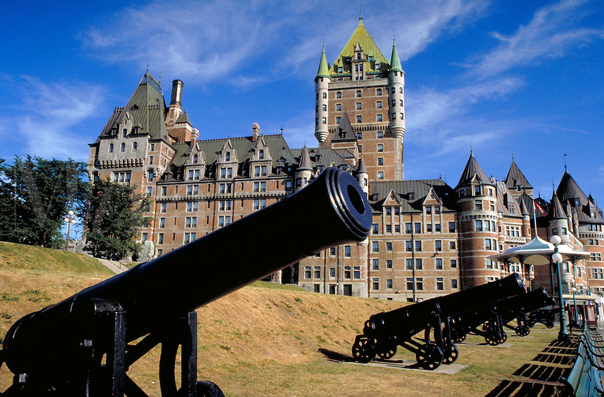 Exterior of the historic hotel Chateau Frontenac in Old Quebec City. Old Quebec City Province of Quebec Canada French Canada.