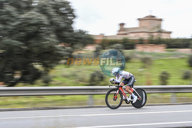 Team Sunweb rider in action during Stage 2 of the CERATIZIT Challenge by La Vuelta 2020, an individual time trial running 9.3km around Boadilla del Monte, Spain. 6th November 2020.<br /> Picture: Antonio Baixauli López/BaixauliStudio | Cyclefile<br /> <br /> All photos usage must carry mandatory copyright credit (© Cyclefile | Antonio Baixauli López/BaixauliStudio)
