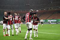 Rafael Leao-Ismael Bennacer<br /> Serie A football match between AC Milan and Spezia Calcio at San Siro Stadium in Milano  (Italy), October 4th, 2020. Photo Image Sport / Insidefoto