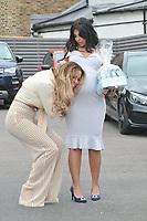 Chloe Meadows & Cara de la Hoyde<br /> arriving for filming for Towie la sala Chigwell<br /> <br /> <br /> ©Richard Open snappers