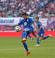 05.05.2018, Football 1. Bundesliga 2017/2018, 33.  match day, RB Leipzig - VfL Wolfsburg, in Red Bull Arena Leipzig. Renato Steffen (Wolfsburg)  *** Local Caption *** © pixathlon<br /> <br /> Contact: +49-40-22 63 02 60 , info@pixathlon.de