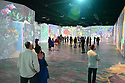 MIAMI, FL - APRIL 13: People attend the Beyond Van Gogh exhibition at Ice Palace Film Studios on April 13, 2021 in Miami, Florida. Beyond Van Gogh is a rich and unique multimedia experience, crafted by audiovisuals designers using cutting-edge projection technology to create an engaging journey into the world of Van Gogh taking the viewer on a journey through over 300 iconic artworks. Van Gogh's masterpieces come alive, appear and disappear and flow across multi-surfaces. This exhibition is open to the public from (4/15/21-7/11/21)  ( Photo by Johnny Louis / jlnphotography.com )