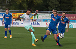 11.10.2020, Marschwegstadion, Oldenburg, GER, RL Nord, Gruppe Süd, VfB Oldenburg vs SV Werder Bremen u23,  DFL regulations prohibit any use of photographs as image sequences and/or quasi-video, im Bild<br /> Eren DINKCI (SV Werder Bremen U23 #43 ) Marten-Heiko SCHMIDT (VfB Oldenburg #13 )<br /> <br /> Foto © nordphoto / Rojahn