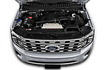 Car stock 2019 Ford Expedition Limited 5 Door SUV engine high angle detail view