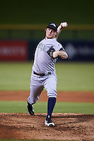 Peoria Javelinas pitcher Dylan Unsworth (61), of the Seattle Mariners organization, during a game against the Mesa Solar Sox on October 15, 2016 at Sloan Park in Mesa, Arizona.  Peoria defeated Mesa 12-2.  (Mike Janes/Four Seam Images)