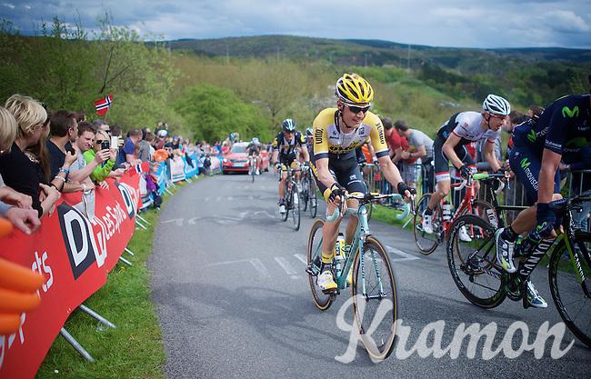 Wilco Kelderman (NLD/LottoNL-Jumbo) up La Redoute (1650m/9.7%) next to compatriot Bauke Mollema (NLD/Trek Factory Racing)<br /> <br /> 101th Liège-Bastogne-Liège 2015