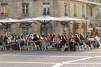 A cafe. Place de la Victoire. Bordeaux city, Aquitaine, Gironde, France