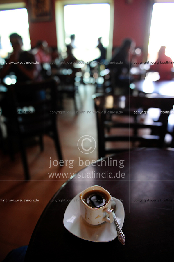 ETHIOPIA, Addis Ababa, Piazza , city centre, cafe / AETHIOPIEN, Addis Abeba, Piazza im Stadtzentrum, Kaffee Haus