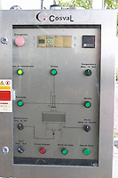 Control panel for the rapid rotary maceration tank. Bacalhoa Vinhos, Azeitao, Portugal