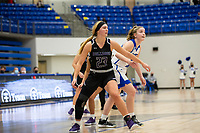 Caroline Lyles (23) of Fayetteville posting up against Rogers at King Arena, Rogers, AR January 8, 2021 / Special to NWA Democrat-Gazette/ David Beach