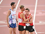 Wales' Adam Bitchell, left, and Wales' Dewi Griffiths at the end of the 10,000m final<br /> <br /> Photographer Chris Vaughan/Sportingwales<br /> <br /> 20th Commonwealth Games - Day 9 - Friday 1st August 2014 - Athletics - Hampden Park - Glasgow - UK