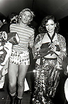 HELMUT BERGER CON BIANCA PEREZ JAGGER<br /> FESTA PER I 30 ANNI DI HELMUT BERGER JACKIE O' ROMA 1974