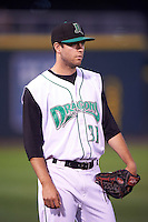 Dayton Dragons pitcher Jake Johnson (31) during a game against the South Bend Cubs on May 11, 2016 at Fifth Third Field in Dayton, Ohio.  South Bend defeated Dayton 2-0.  (Mike Janes/Four Seam Images)