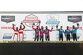 #48 Paul Miller Racing Lamborghini Huracan GT3, GTD: Bryan Sellers, Madison Snow, Corey Lewis, #86 Meyer Shank Racing w/Curb-Agajanian Acura NSX GT3, GTD: Mario Farnbacher, Matt McMurry, Shinya Michimi, #16 Wright Motorsports Porsche 911 GT3 R, GTD: Ryan Hardwick, Patrick Long, Jan Heylen, podium