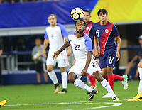 ARLINGTON, TEXAS - Saturday July 22, 2017 Kellyn Acosta #23 of the USMNT in action against the Costa Rican National Team in the first have of the match at AT&T Stadium in Arlington, TX