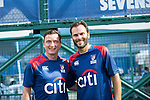 Citi All Stars Vladimir Smicer (left) and Patrik Berger during the HKFC Citi Soccer Sevens on 20 May 2016 in the Hong Kong Footbal Club, Hong Kong, China. Photo by Lucas Schifres / Power Sport Images